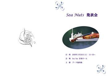 Sea Nuts Club 発表会 プログラム制作 バイオリン クラシック 写真系 揺れるバイオリン