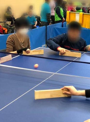 ふじ森ゆか 藤森結花 ふじもりゆか フジモリユカの卓球バレー大会への参加風景