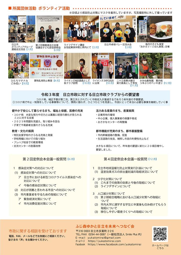ふじ森ゆか市政報告2020